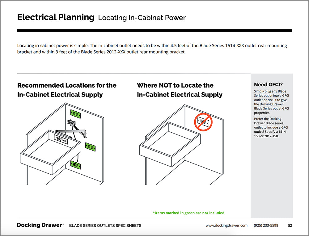 Blade Series Electrical Planning cover page