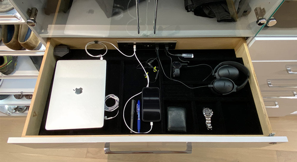 closet charging drawer