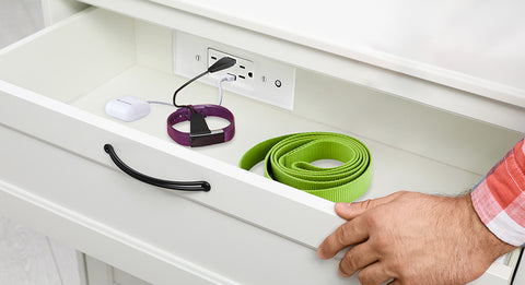 Laundry room charging drawer