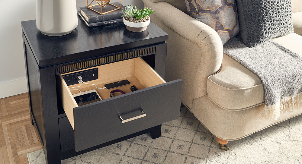 In-Drawer Outlet Living Room organization