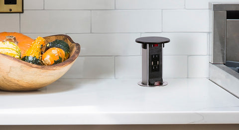 Add A Kitchen Pop Up Outlet To Your Remodel - Docking Drawer