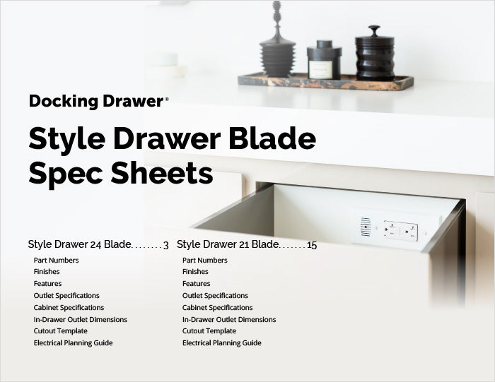 Style Drawer Flush Spec Sheet cover page
