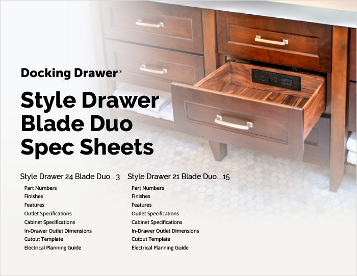 Style Drawer Blade Duo Spec Sheet cover page