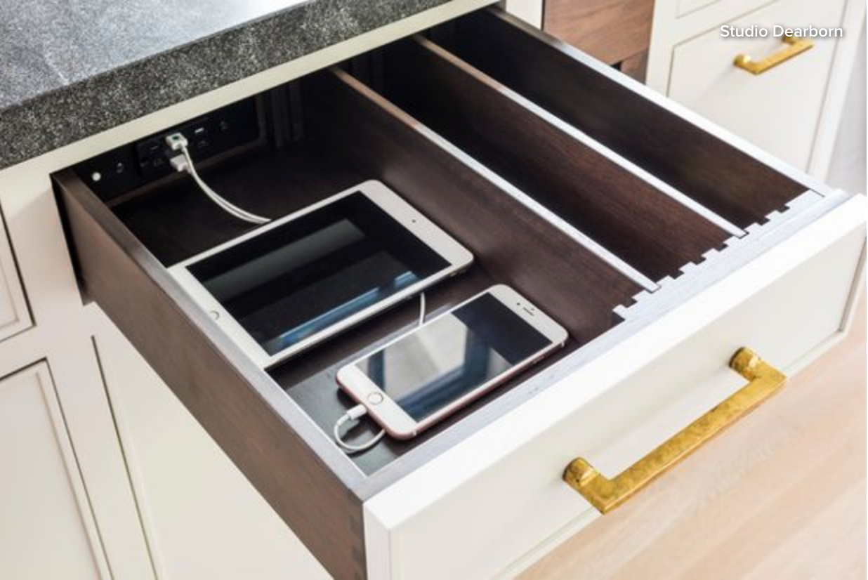 Houzz Studio Dearborn and Docking Drawer