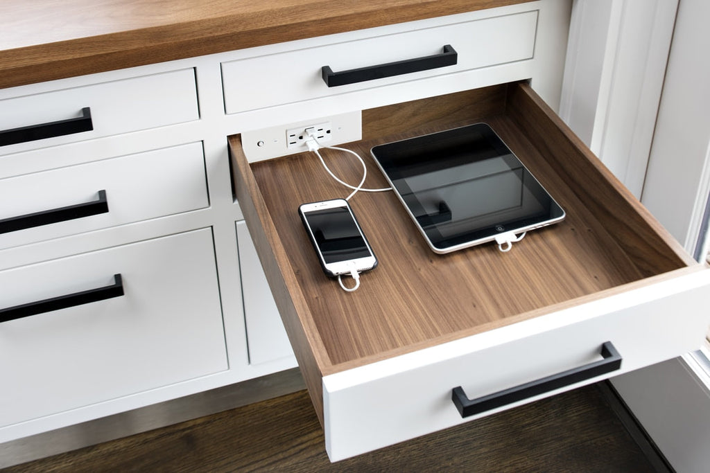 Docking Drawer Idea Library Hidden Electrical Outlet