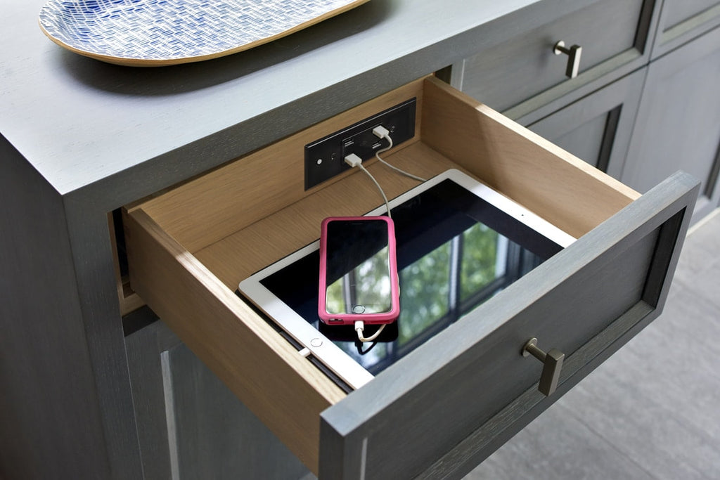 docking drawer idea library hidden electrical outlet inspirations