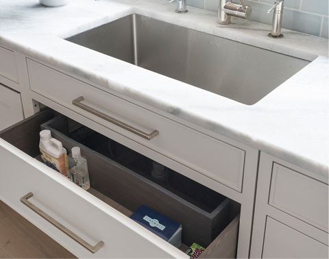 cabinet organization ideas: under sink