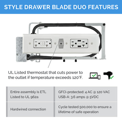 Style Drawer Blade Duo Powering Series