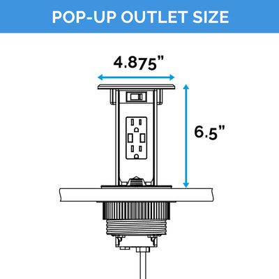 Pop-Up Power Outlet (15 amps)