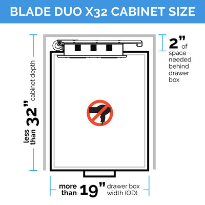 Blade Duo Charging Series - Deep Cabinet Solutions
