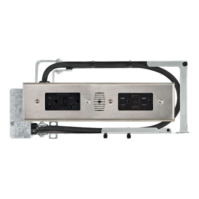 Style Drawer Blade Duo - 2 AC GFCI and 2 AC & 2 USB-A
