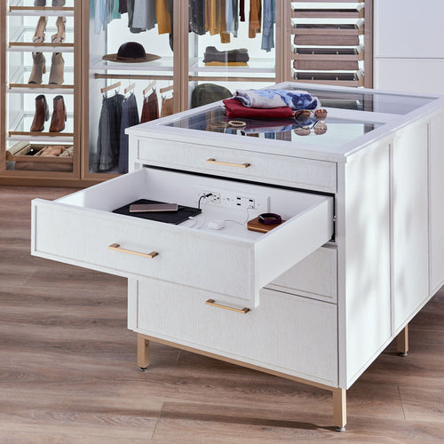 dresser with power outlet