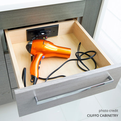 in drawer power outlet