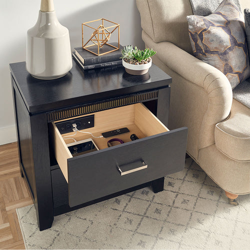 end table charging drawer