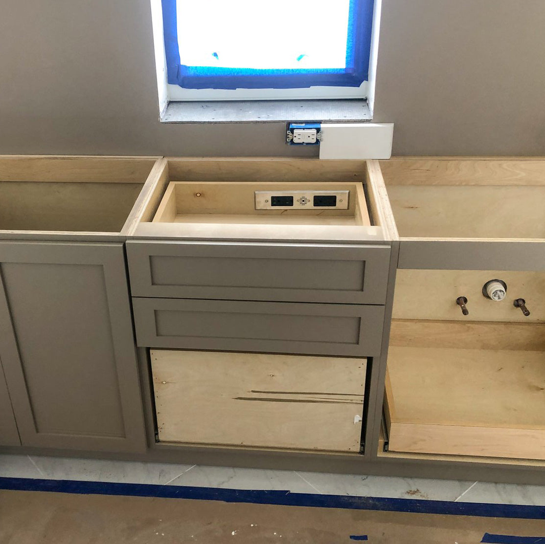 installation of charging drawer outlet
