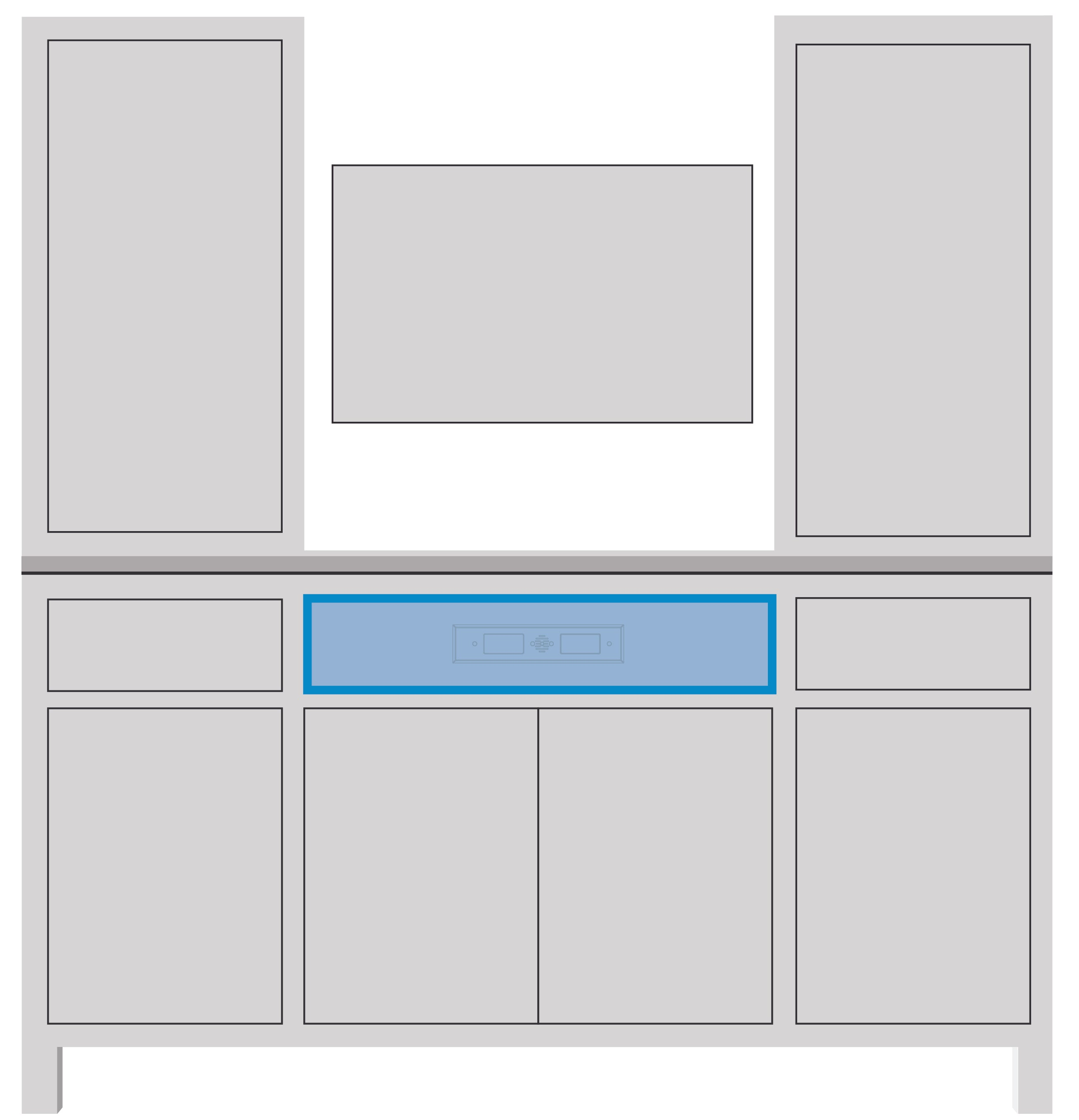 entertainment center in drawer outlet