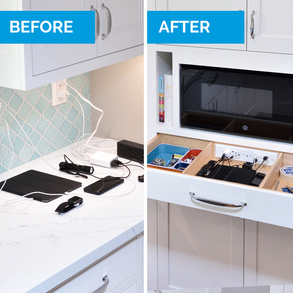 before and after in drawer outlet