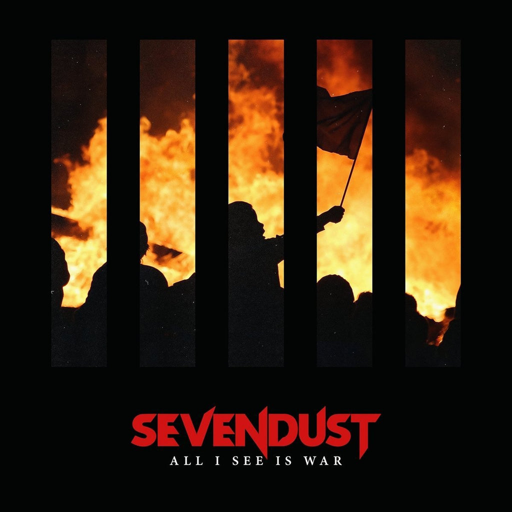"Sevendust ""All I See Is War"" 12x12 Poster (Autographed)"