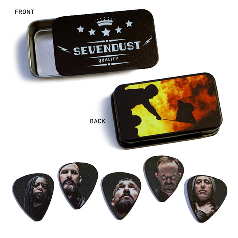 Sevendust Pick Tin (w/ 5 Picks)