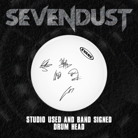 NEW Sevendust: Studio Used Signed Drum Head