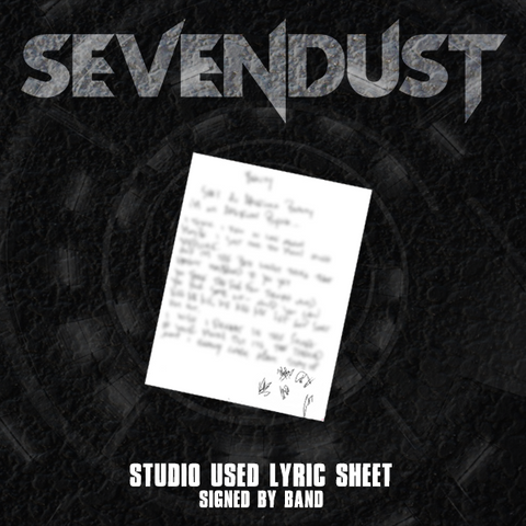 NEW Sevendust: Studio Used Lyric Sheet (Signed)