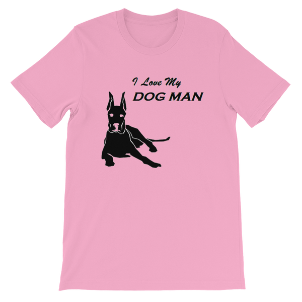 I Love My Dog Man Short-Sleeve Unisex T-Shirt (Light)