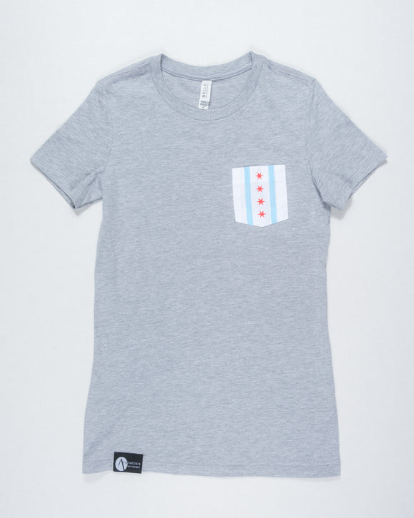 Chicago Flag Tee - Gray (Women's)