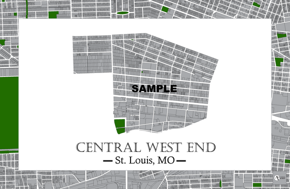 Central West End Neighborhood Map Print