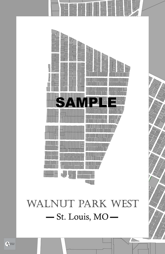 Walnut Park West Neighborhood Map Print