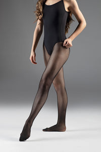 Pink Tights Black Leo Seamed Fishnets