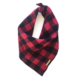 The Foggy Dog Buffalo Check Doggie Bandana