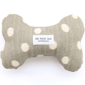 The Foggy Dog Grey Polka Dot Doggie Toy