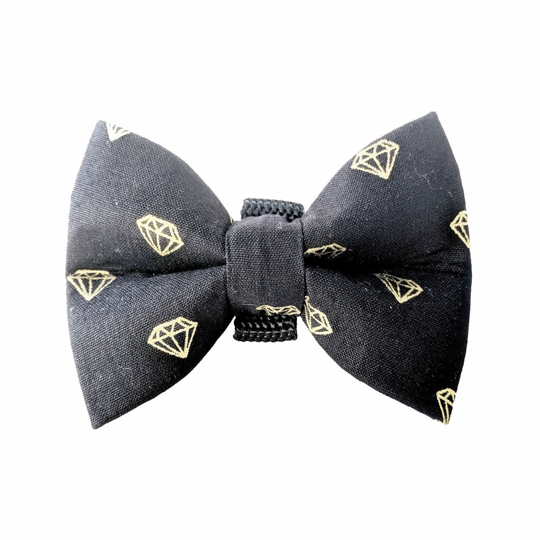 Bling Bling Black Diamond Bow Tie