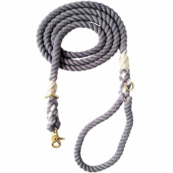 Cloudy Days Tie Dye Adjustable Rope Leash
