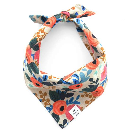 The Foggy Dog Rosa Flora Doggie Bandana
