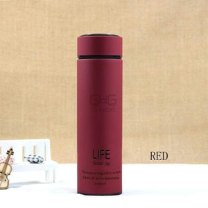 500ML High Quality Stainless Steel Thermal Mug Elite Fitness Essentials Wine Red