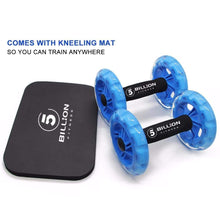 Load image into Gallery viewer, AB Roller Wheel with knee pad Elite Fitness Essentials
