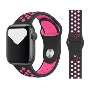 Apple Watch Replacement Band Breathable Silicone 38mm/40mm/42mm/44mm - Elite Fitness Essentials