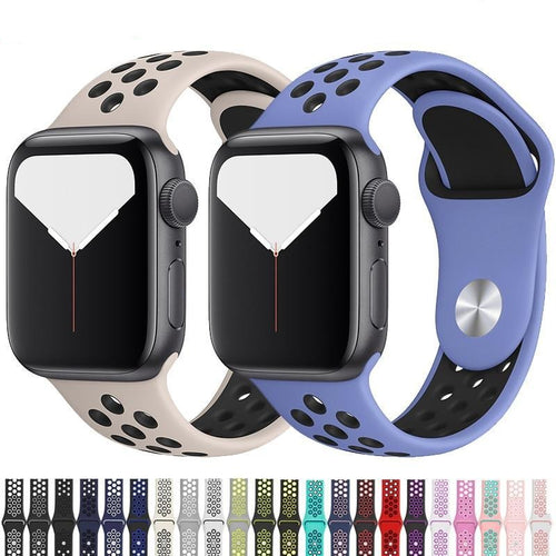 Apple Watch Band Breathable Silicone 38mm/40mm/42mm/44mm Elite Fitness Essentials
