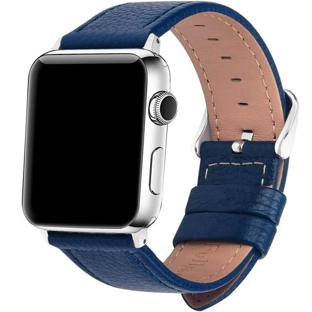 Apple Watch Replacement Band Leather 38mm/40mm/42mm/44mm - Elite Fitness Essentials