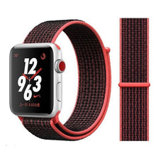 Load image into Gallery viewer, Apple Watch Band Nylon 38mm/40mm/42mm/44mm Elite Fitness Essentials China black pink 38mm or 40mm