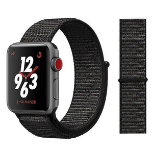 Apple Watch Band Nylon 38mm/40mm/42mm/44mm Elite Fitness Essentials China black red 38mm or 40mm