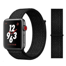 Load image into Gallery viewer, Apple Watch Band Nylon 38mm/40mm/42mm/44mm Elite Fitness Essentials China black white 38mm or 40mm