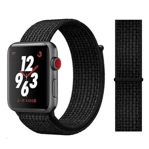 Apple Watch Band Nylon 38mm/40mm/42mm/44mm Elite Fitness Essentials China black white 38mm or 40mm