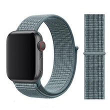Load image into Gallery viewer, Apple Watch Band Nylon 38mm/40mm/42mm/44mm Elite Fitness Essentials China Celestial Teal 38mm or 40mm