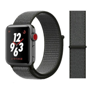 Apple Watch Band Nylon 38mm/40mm/42mm/44mm Elite Fitness Essentials China Deep olive 38mm or 40mm
