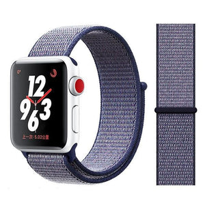 Apple Watch Band Nylon 38mm/40mm/42mm/44mm Elite Fitness Essentials China deeple blue 38mm or 40mm