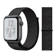 Load image into Gallery viewer, Apple Watch Band Nylon 38mm/40mm/42mm/44mm Elite Fitness Essentials China flash black 42mm or 44mm