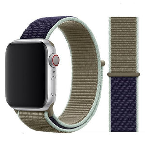 Apple Watch Band Nylon 38mm/40mm/42mm/44mm Elite Fitness Essentials China Khaki 42mm or 44mm