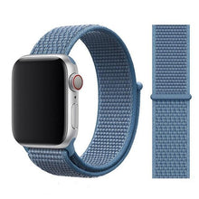 Load image into Gallery viewer, Apple Watch Band Nylon 38mm/40mm/42mm/44mm Elite Fitness Essentials China NEW Cape Cod Blue 42mm or 44mm